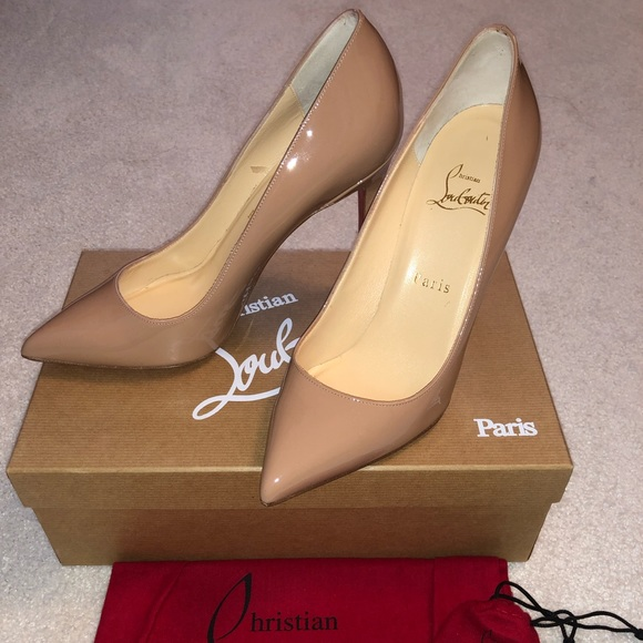 fd359d9d18be Christian Louboutin NEW Pigalle 100 Nude Patent